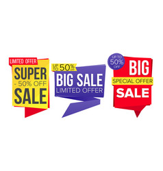 sale banner collection website stickers vector image vector image