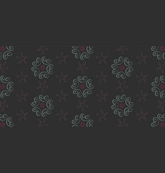 Seamless pattern with floral elements on a dark vector