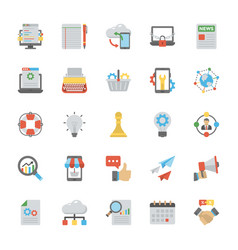 Seo and marketing icons set vector