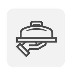serving food icon vector image