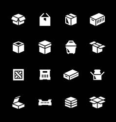 set icons box vector image