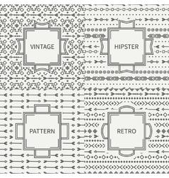 Set of hand drawn line ink geometric ethnic vector image vector image