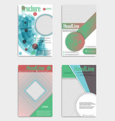 Set of template design layout brochure geometric vector