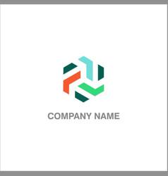 shape polygon circle company logo vector image