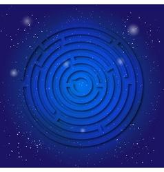 Spiritual sacred symbol of labyrinth on the deep vector