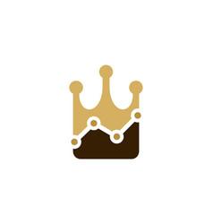stats king logo icon design vector image