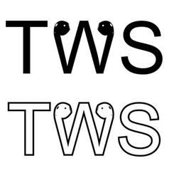 tws headphones icon cartoon true vector image
