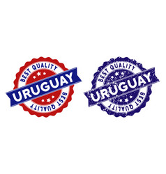 Uruguay best quality stamp with dirty style vector