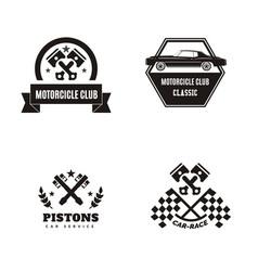 vintage car logo vector image