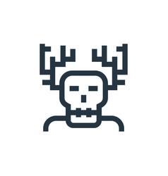 Wendigo icon isolated on white background outline vector