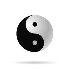 yin yang 3d icon harmony symbol vector image