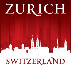 Zurich Switzerland city skyline silhouette vector image
