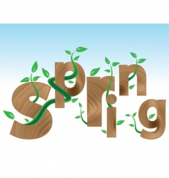 coming spring vector image