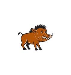 Razorback Side Cartoon vector image vector image