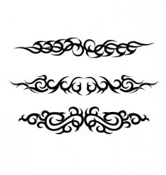 set of tattoo design vector image