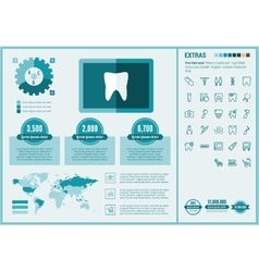 Stomatology flat design Infographic Template vector image