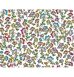 flora birds pattern vector image