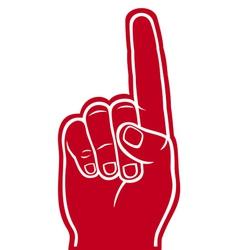 foam finger vector image vector image