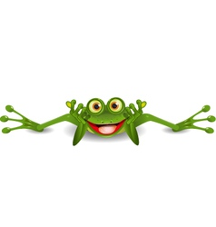 funny frog is on his stomach vector image vector image