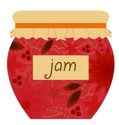 Jam jar retro vector image vector image