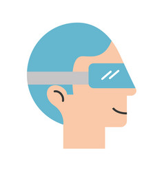 man with virtual reality glasses vector image