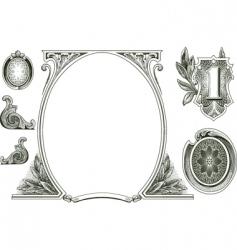 money ornaments vector image