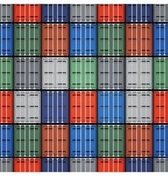 Shipping containers vector image vector image