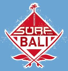 Surf tee vintage design vector image