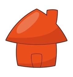 cute cartoon house icon vector image vector image
