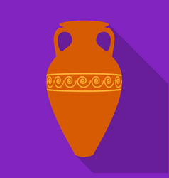 greece amphora icon in flat style isolated on vector image