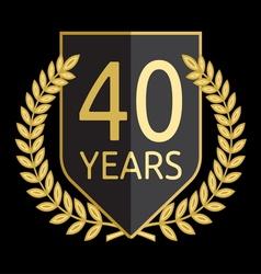 Laurel wreath 40 years vector