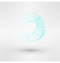 Light blue water technology logo design set vector image