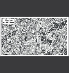 mexico city map in retro style outline map vector image vector image