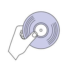 vinyl music symbol vector image vector image