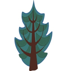 Cartoon conifer Tree Isolated vector image vector image