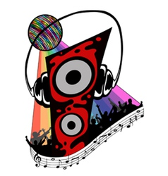 colorful with music elements vector image