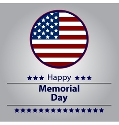 Honoring all who served banner for memorial day vector image