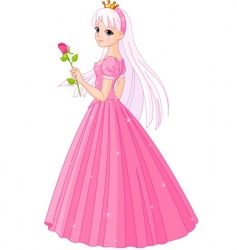 princess with rose vector image vector image