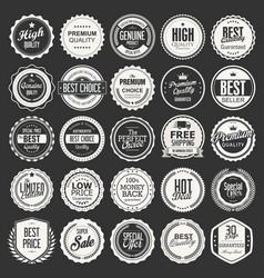 retro vintage badges collection vector image