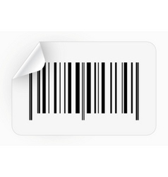 sticker with bar code vector image