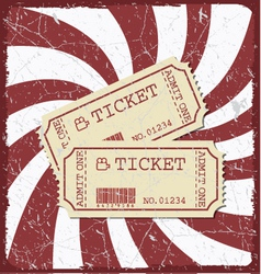 Vintage style movie poster with movie tickets vector image vector image