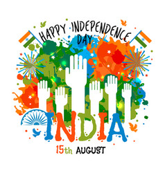 15th august india independence day celebrations vector image