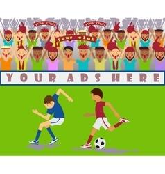 A soccer match vector