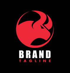 angry bull logo vector image