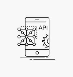 Api application coding development mobile line vector