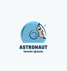 Astronaut abstract sign emblem icon vector