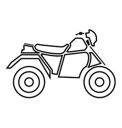 Atv motorcycle on four wheels it is black icon vector