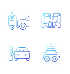 Automation in automobile industry gradient linear vector