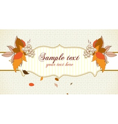 Autumn label with grapes vector