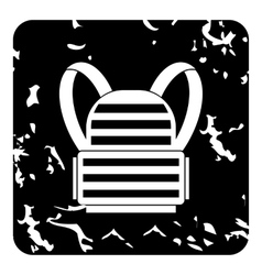 Backpack icon grunge style vector